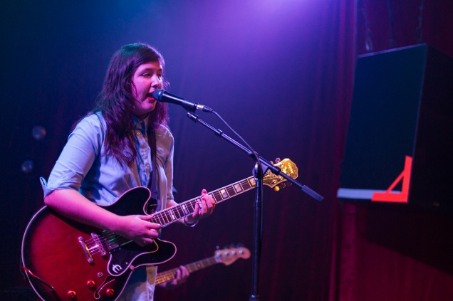 lucy dacus performing at Rickshaw Stop in San Francisco, August 10, 2016