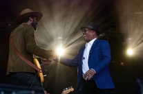 Gary Clark, Jr. with Booker T. Jones at Monterey Pop 50 2017